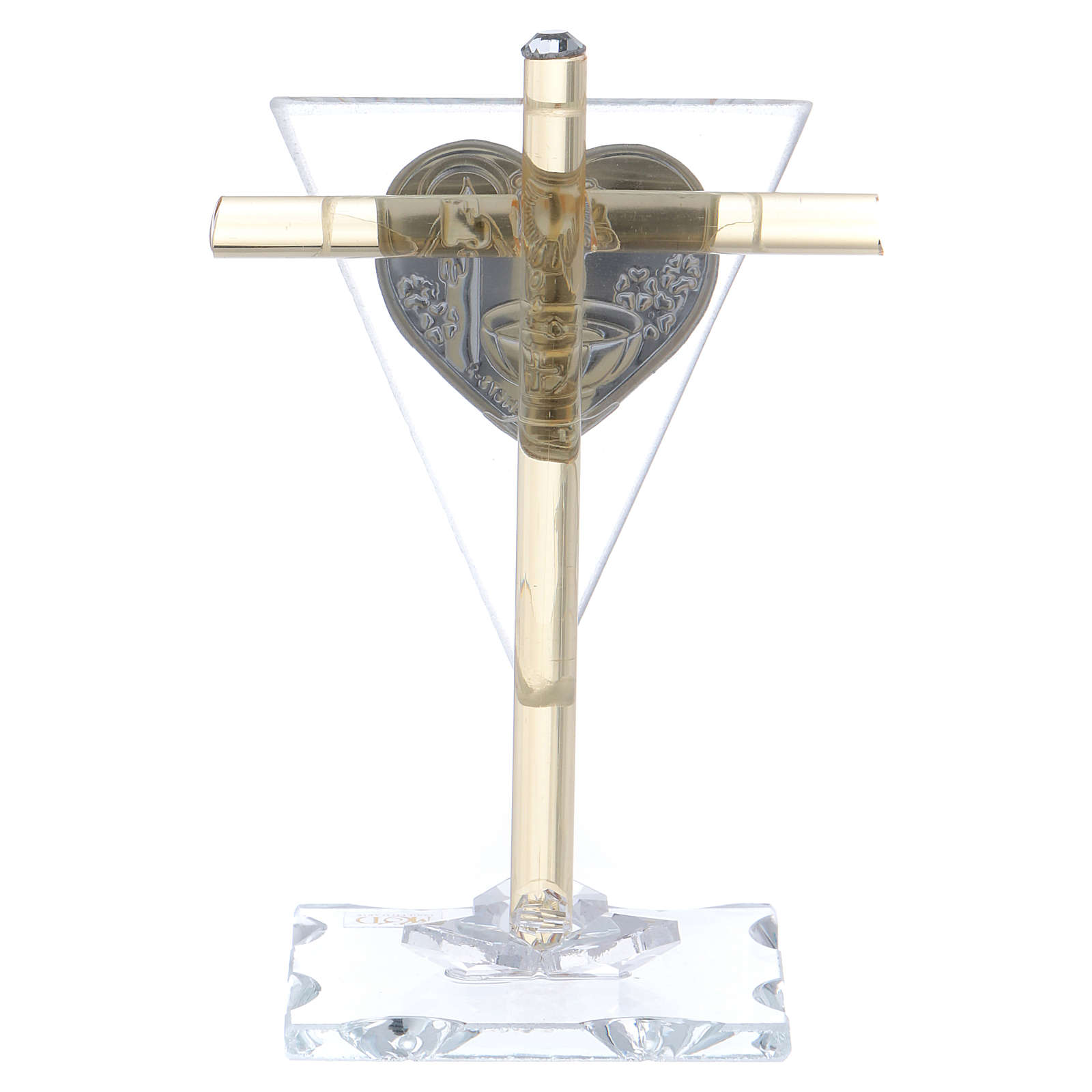 Party favour for Baptism Cross in Murano glass 10x5 cm 3