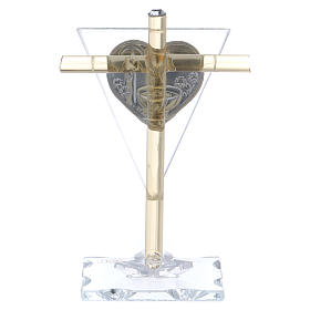 Party favour for Baptism Cross in Murano glass 10x5 cm s3