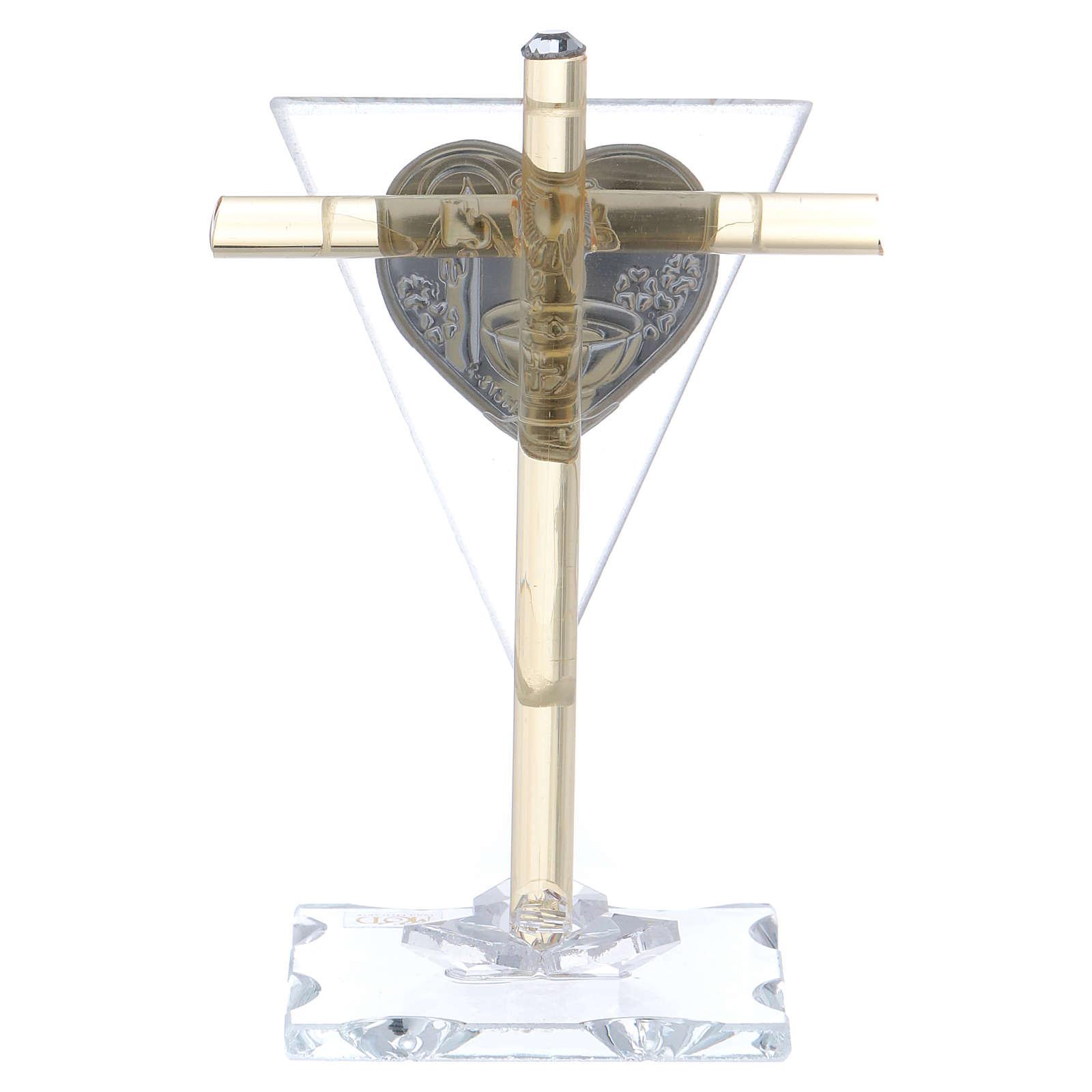 Bombonera para Bautismo Cruz de vidrio Murana 10x5 cm 3