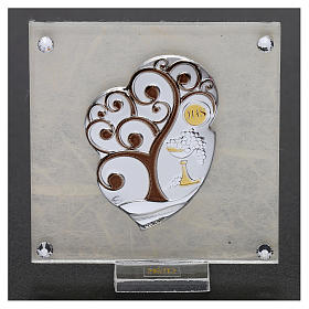 Bomboniera Comunione quadretto Albero della vita 10x5 cm s2