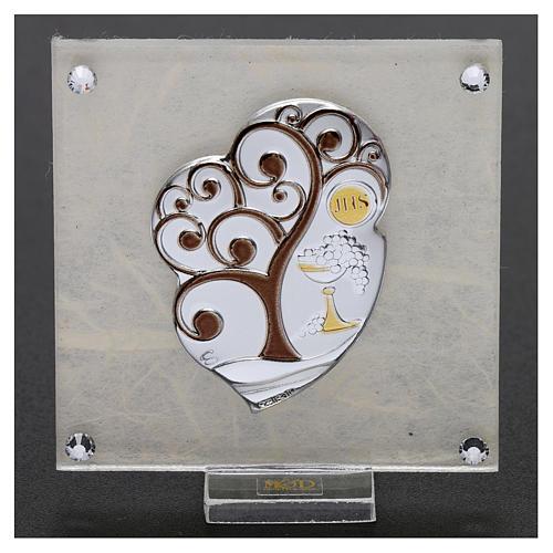 Bomboniera Comunione quadretto Albero della vita 10x5 cm 2