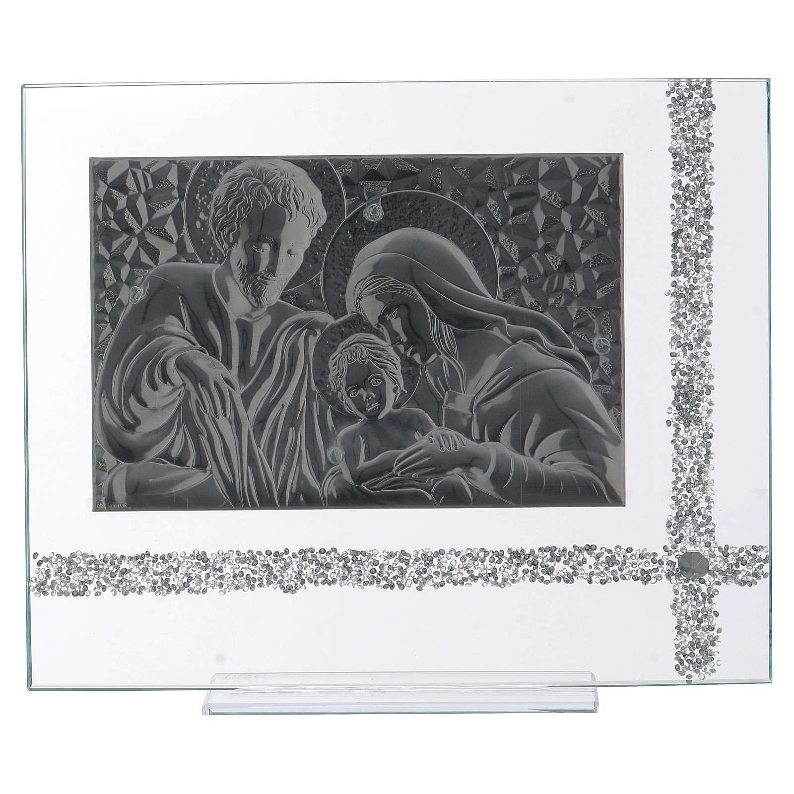 Quadro da appoggio Sacra Famiglia idea regalo 30x35 cm  3