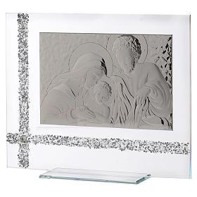 Quadro da appoggio Sacra Famiglia idea regalo 30x35 cm  s2