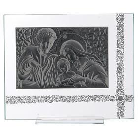 Quadro da appoggio Sacra Famiglia idea regalo 30x35 cm  s3