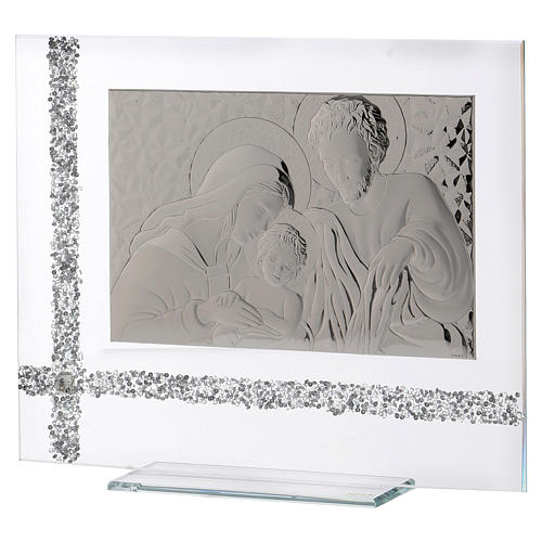Quadro da appoggio Sacra Famiglia idea regalo 30x35 cm  2