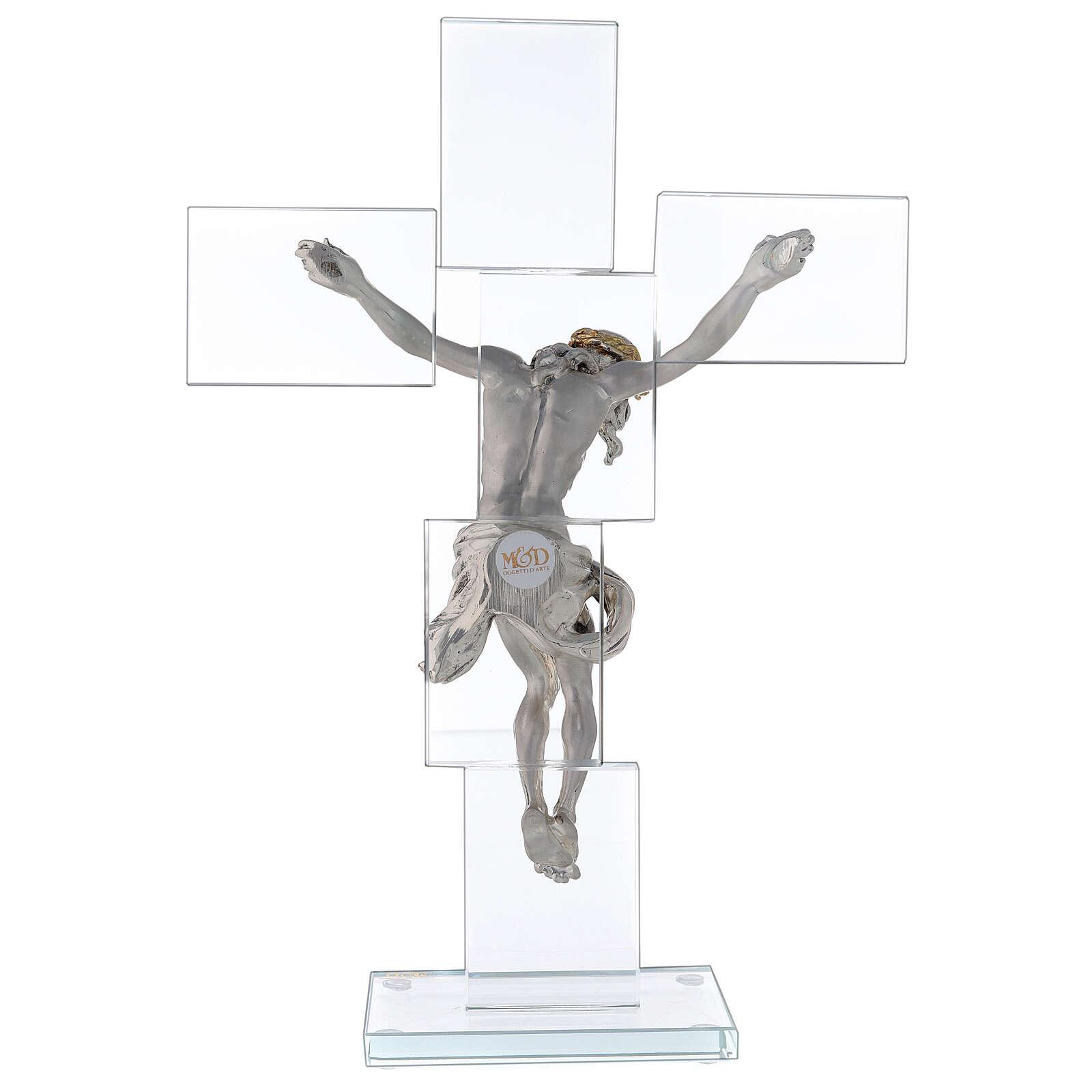 Idea regalo Crocefisso in stile moderno 35x25 cm 3