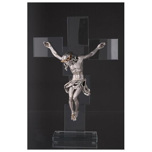 Idea regalo Crocefisso in stile moderno 35x25 cm 2