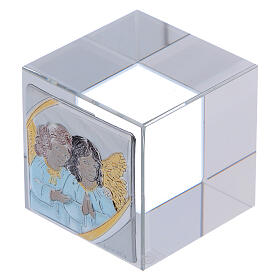 Baptism favor with Angels paperweight 2x2x2 in s2
