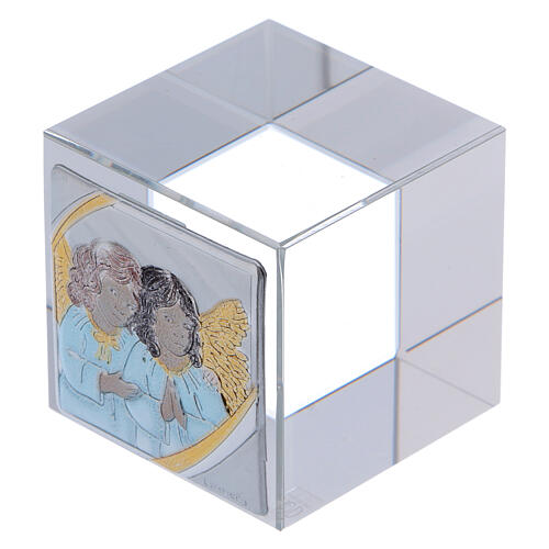 Baptism favor with Angels paperweight 2x2x2 in 2