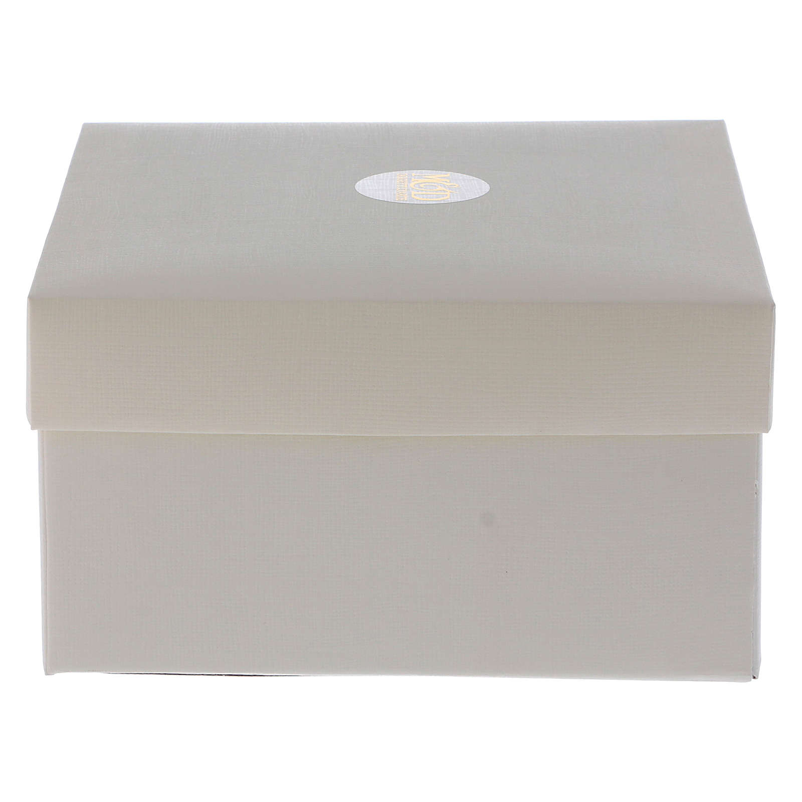 Bonbonnière cube presse-papiers avec Christ 5x5x5 cm 3