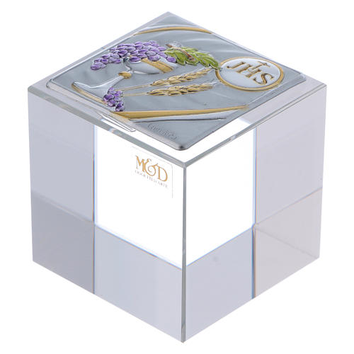 Bomboniera Comunione: fermacarte 5x5x5 cm 1