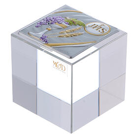 Holy Communion favor cubic paperweight 2x2x2 in s1