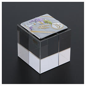 Holy Communion favor cubic paperweight 2x2x2 in s3