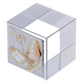 Bomboniera cubetto Cresima 5x5x5 cm s2