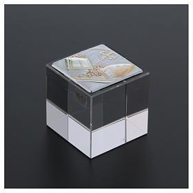 Bomboniera cubetto Cresima 5x5x5 cm s3