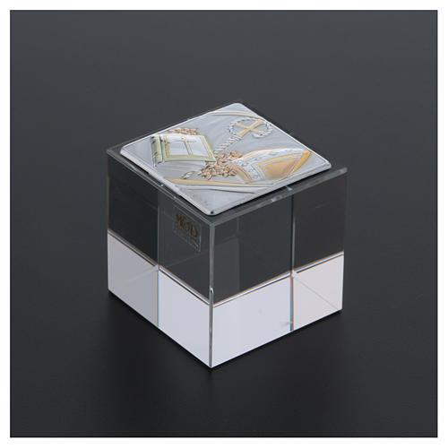 Bomboniera cubetto Cresima 5x5x5 cm 3