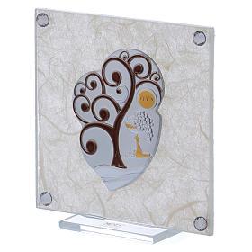 Cadre bonbonnière Arbre de la Vie pour Communion 10x10 cm s2