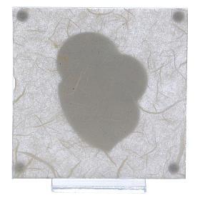 Quadretto bomboniera Albero della vita per Comunione 10x10 cm s3