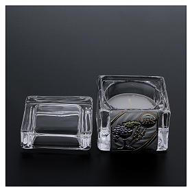 Pamiątka Komunii pudełeczko 5x5x5 cm z podgrzewaczem tealight s3