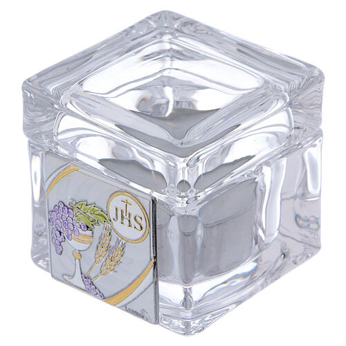Holy Communion souvenir box with tea light candle 2x2x2 in 1