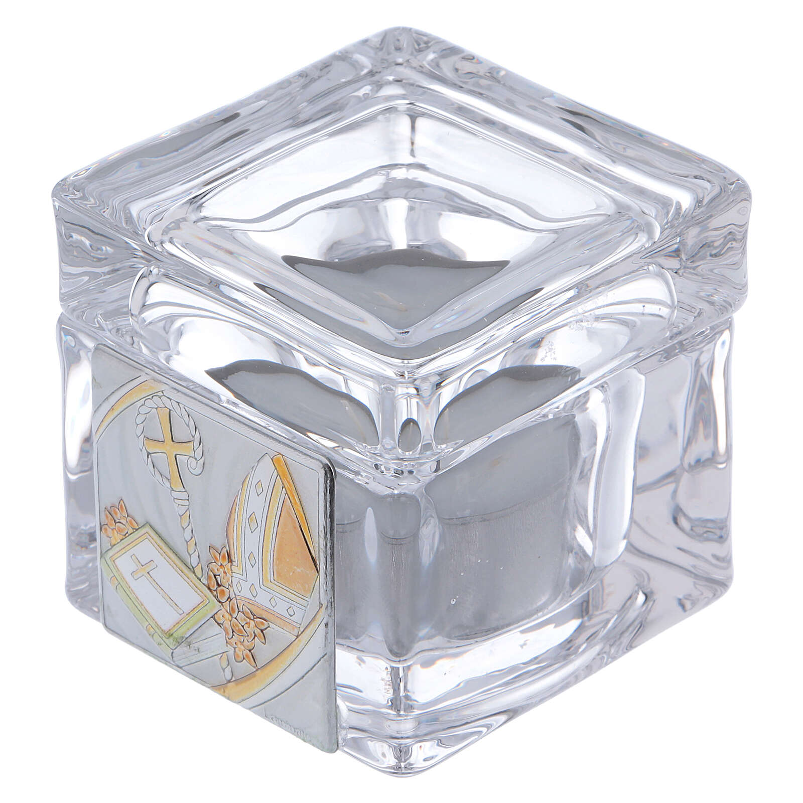 Confirmation souvenir box with tea light candle 2x2x2 in 4