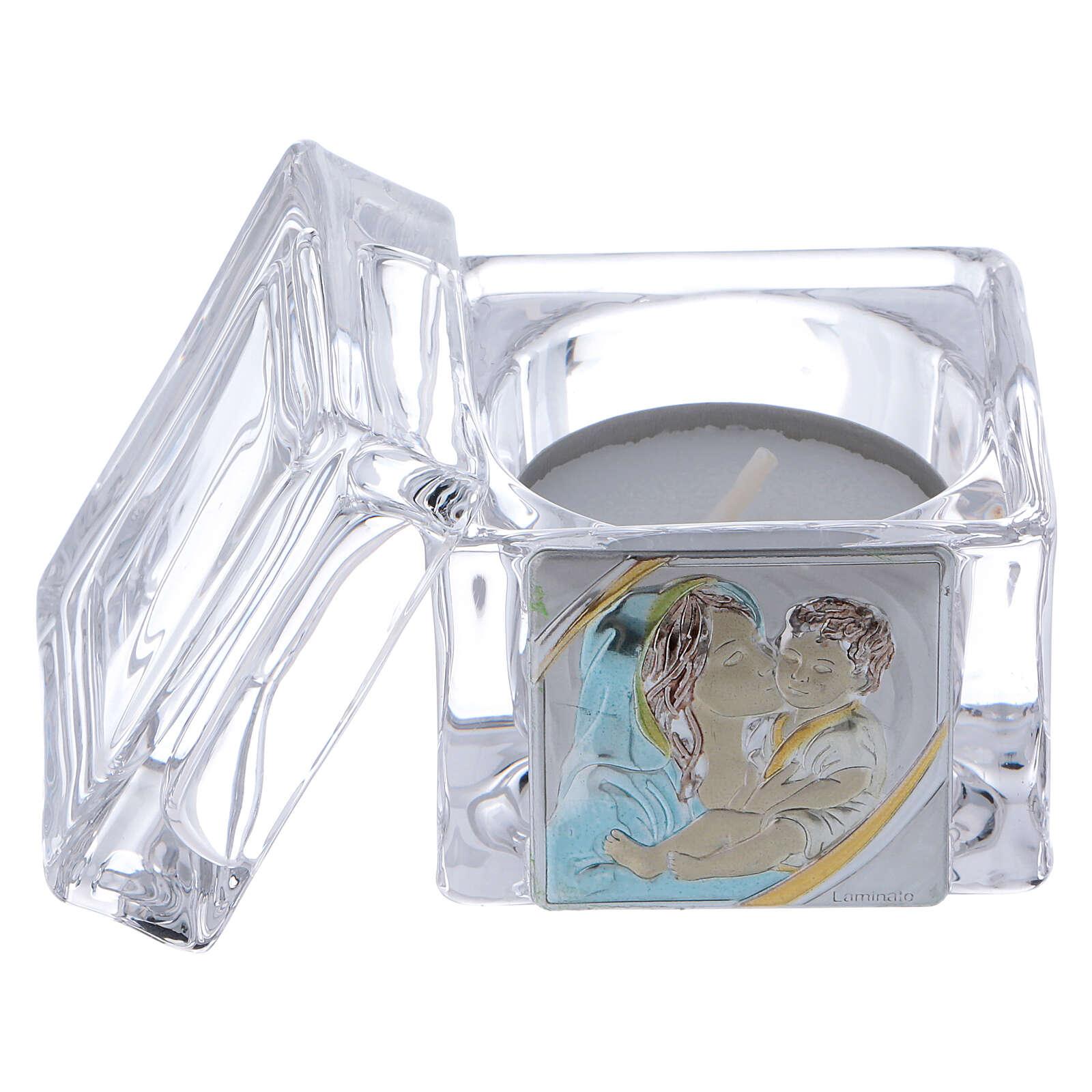 Lembrancinha Batismo caixinha 5x5x5 cm vela Maternidade 4
