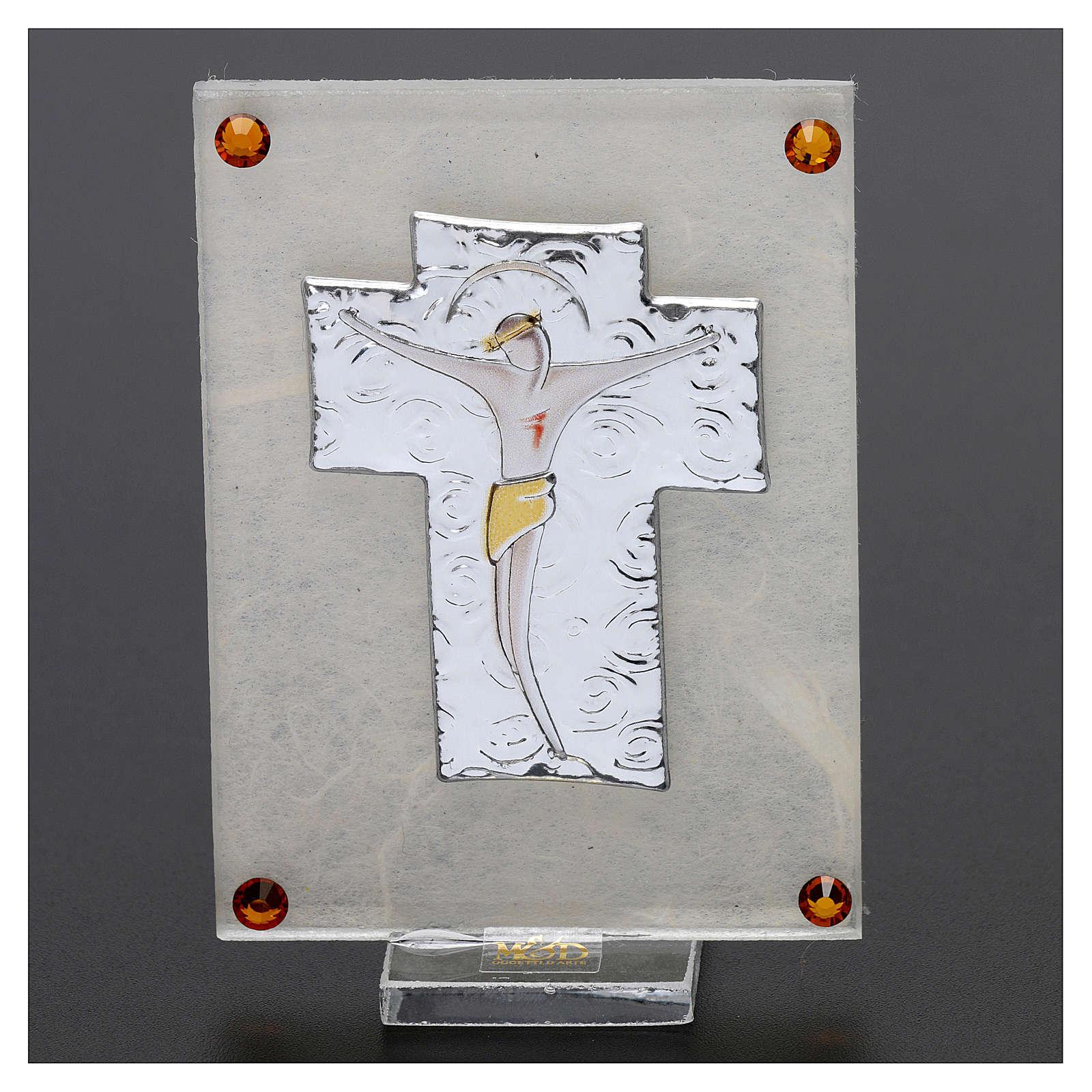 Quadretto ricordino Crocefisso 10x5 cm 4