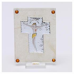Quadretto ricordino Crocefisso 10x5 cm s1