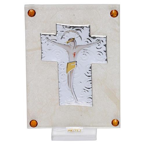 Quadretto ricordino Crocefisso 10x5 cm 1