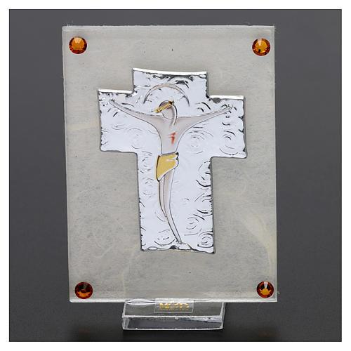 Quadretto ricordino Crocefisso 10x5 cm 2