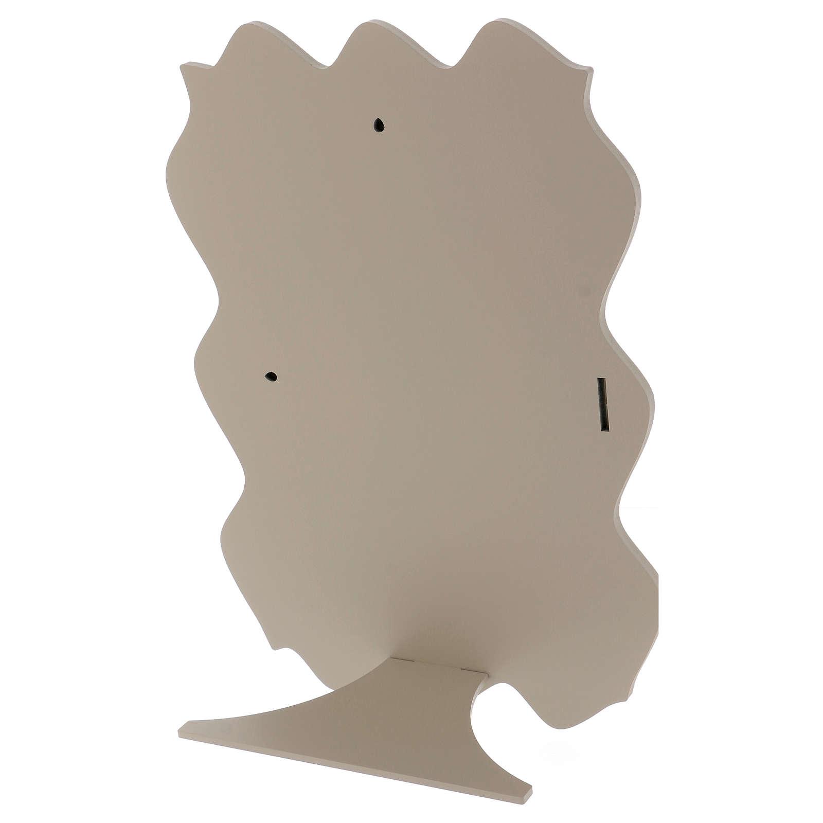 Quadro capoletto Sacra Famiglia argento colorato 40x30 cm 3