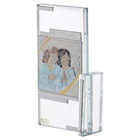 Quadretto regalo con Angioletti in cristallo 15x10 cm s2