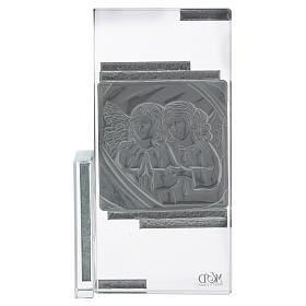 Quadretto regalo con Angioletti in cristallo 15x10 cm s3