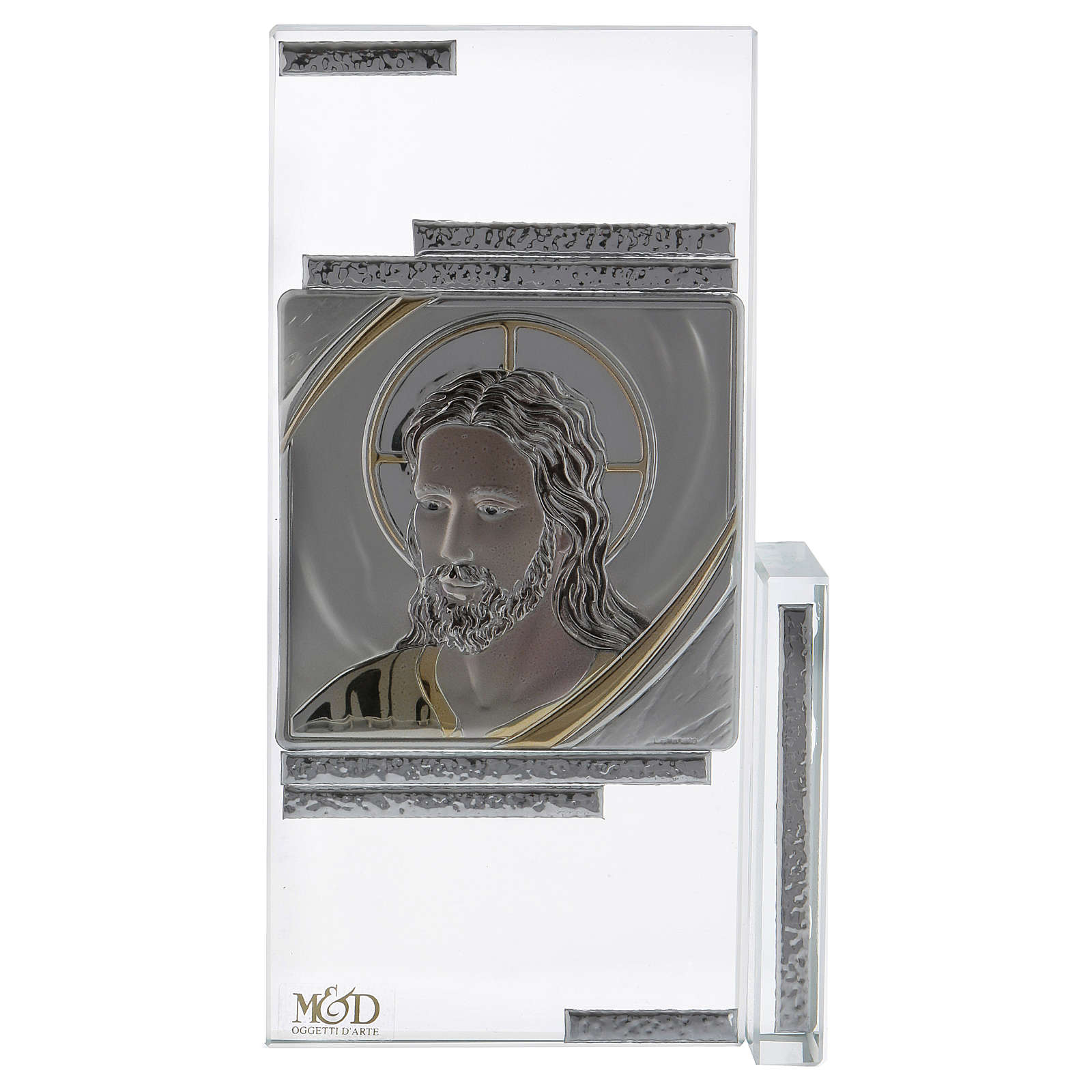 Idea regalo cuadrito con rostro de Jesús 15x10 cm 3