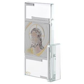 Idea regalo cuadrito con rostro de Jesús 15x10 cm s2