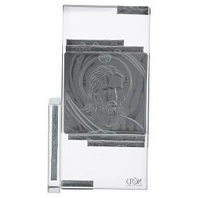 Idea regalo cuadrito con rostro de Jesús 15x10 cm s3