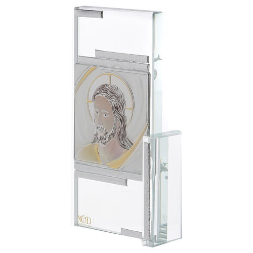 Idea regalo cuadrito con rostro de Jesús 15x10 cm 2