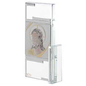 Idée-cadeau cadre avec visage de Jésus 15x10 cm s2