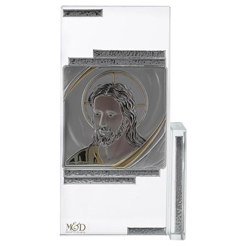 Idée-cadeau cadre avec visage de Jésus 15x10 cm 1