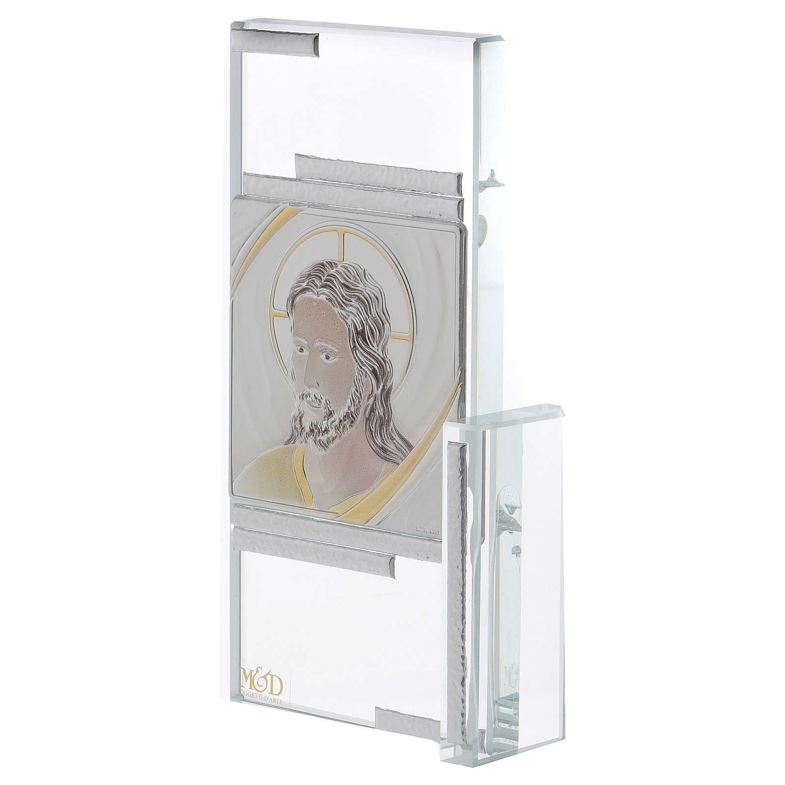 Idea regalo quadretto con volto di Gesù 15x10 cm 3