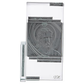 Idea regalo quadretto con volto di Gesù 15x10 cm s3