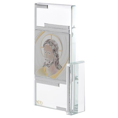 Idea regalo quadretto con volto di Gesù 15x10 cm 2