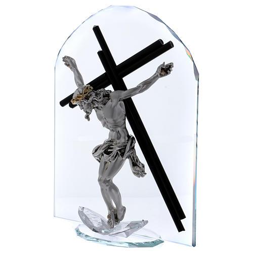 Idea regalo en forma de arco con Crucifijo 30x20 cm 2