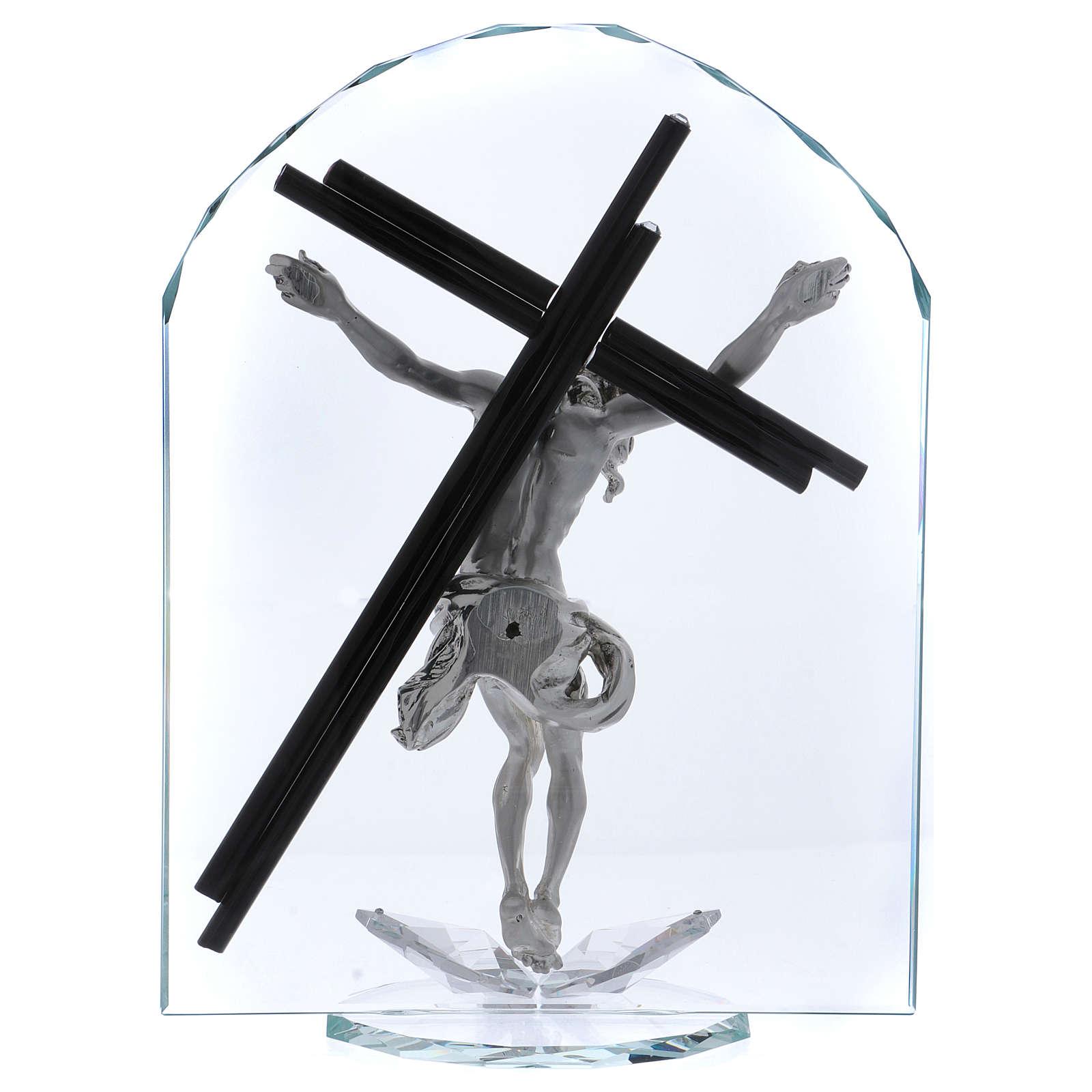 Idea regalo a forma di arco con Crocefisso 30x20 cm 3