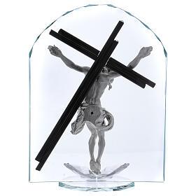Idea regalo a forma di arco con Crocefisso 30x20 cm s3