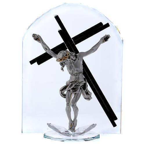 Idea regalo a forma di arco con Crocefisso 30x20 cm 1