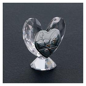 Bomboniera a forma di cuore per la cresima 5x5 cm s2
