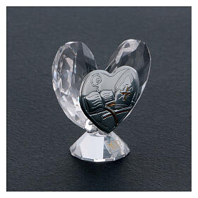 Heart shaped ornament Confirmation favor 2x2 in s2