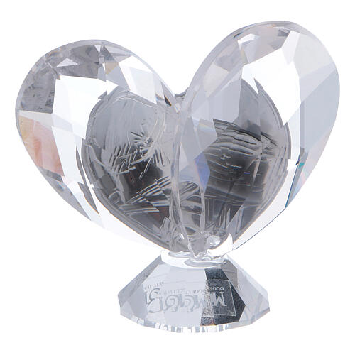 Heart shaped ornament Confirmation favor 2x2 in 3
