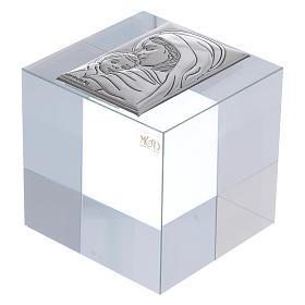 Bonbonnière religieuse cube presse-papiers Maternité 5x5x5 cm s1